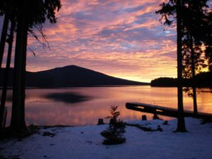 Odell Lake in North Klamath County