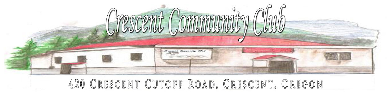 Crescent Community Club in Crescent Oregon