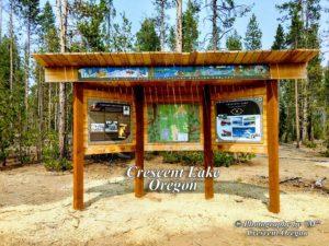 Crescent Lake Oregon Kiosk